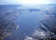Aerial view of the Port of Vancouver